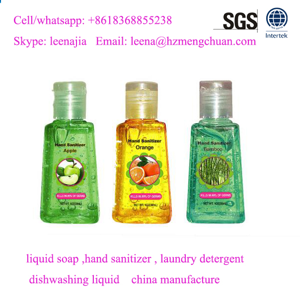 china manufacture OEM private lable mini 30ml hand sanitizer