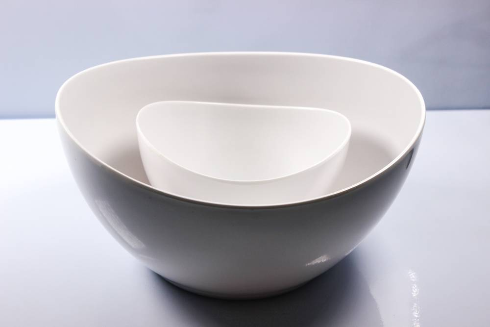 "6.7'' and 11"" ingot melamine bowl"
