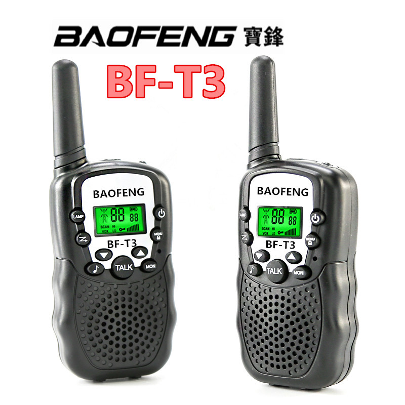 Kids walkie talkie BAOFENG BF-T3 UHF radio for kids