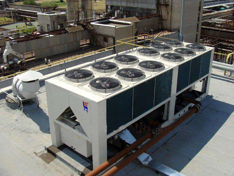 Screw Air Cooled Chiller,Air to Water Chiller for Cooling Only with Bitzer,Refcomp,Hanbell Screw Com