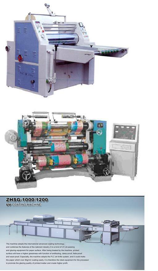 Laminator Uv Coating Separating And Cutting Slitting Machine