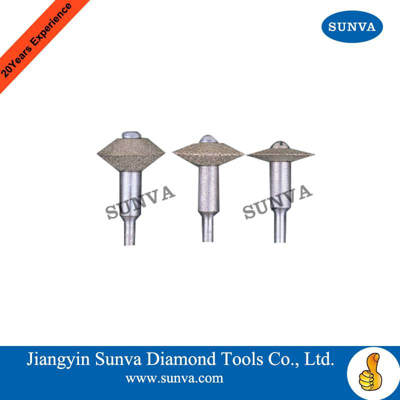 SUNVA Diamond Mounted V wheels /Electroplated diamond grinding wheel /Diamond tools