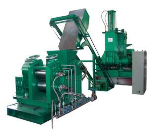 Mixing-extruding-sheeting line