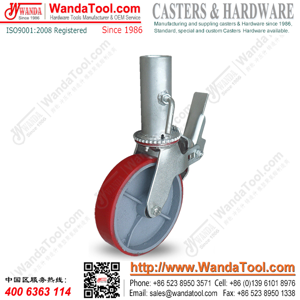 "8"" Heavy duty scaffold caster with Polyurethane wheel"