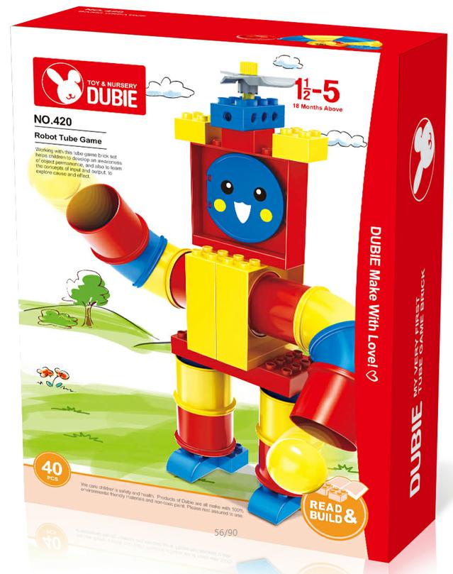 TubeGame piping game robot brick toy building block