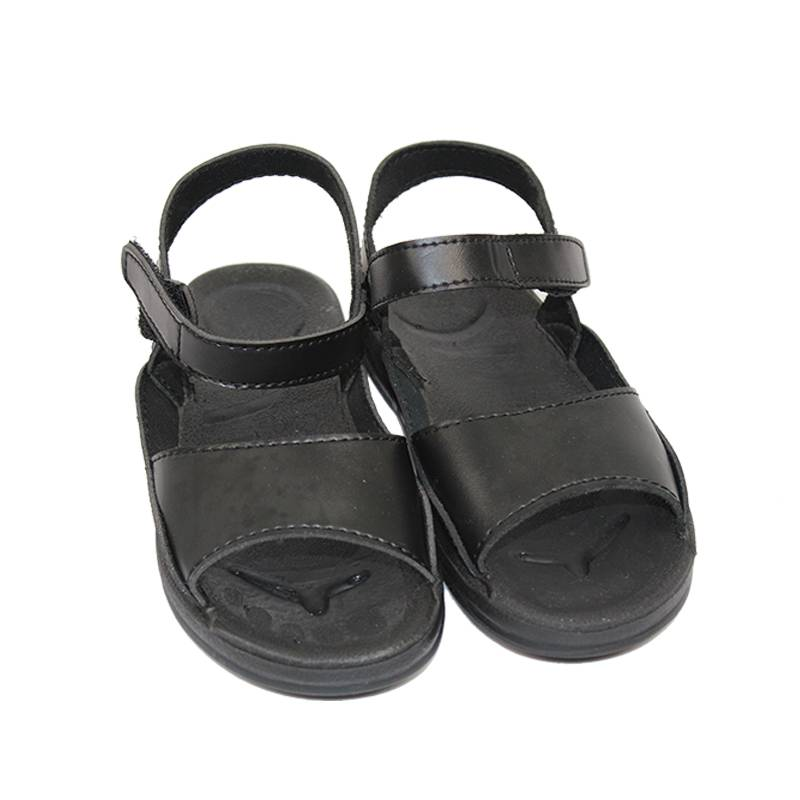 Men's Antistatic Leather Sandals With Non-slip Conductive Contact Points Sole