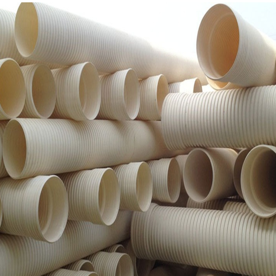Large Diameter PVC-U Double Wall Corrugated Pipe for Drainage