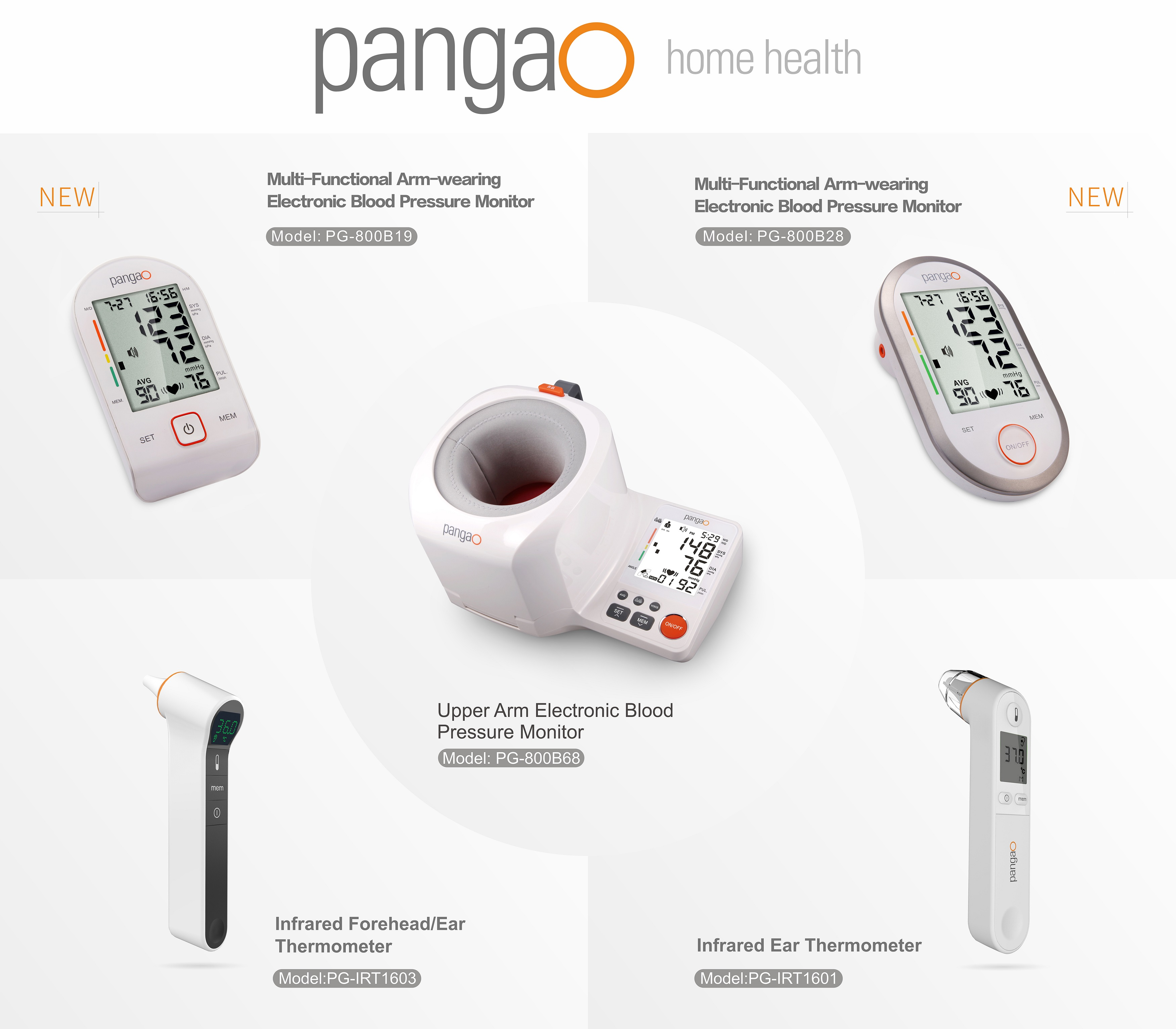 Electronic digital blood pressure monitor for doctors office