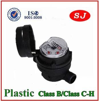 Single Jet Plastic Body Class B/Class C-H Water Meter LXSC-13D8bs