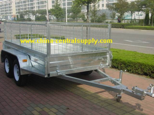 10x5 Box trailer with mesh cage