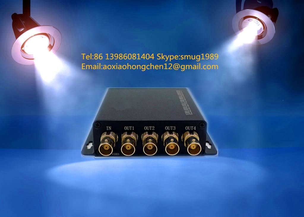 1x4 SDI splitter for 1 SDI input and 4 sdi distribution amplifier