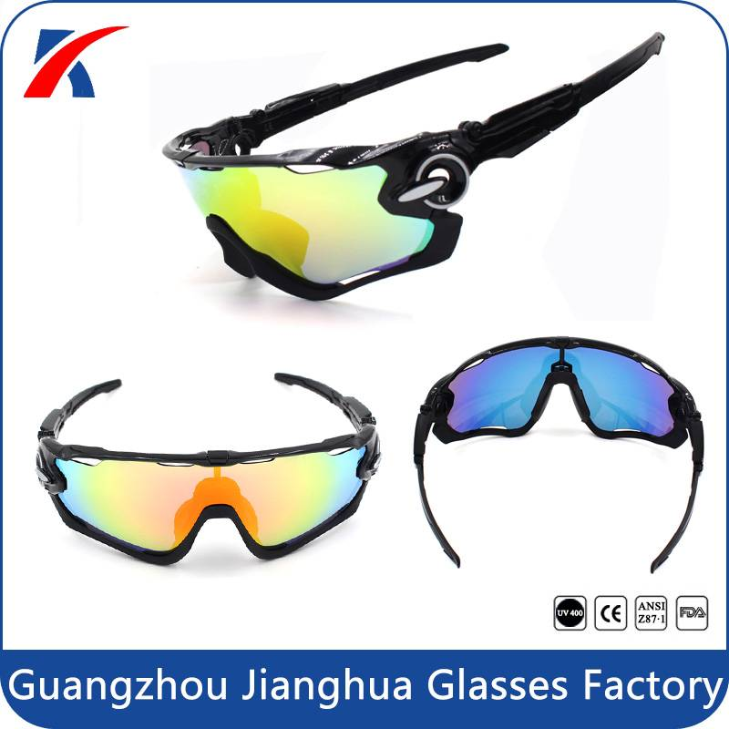 wayfarer style anti slip lightweight outdoor sport sunglasses with UV polarized replacement lenses