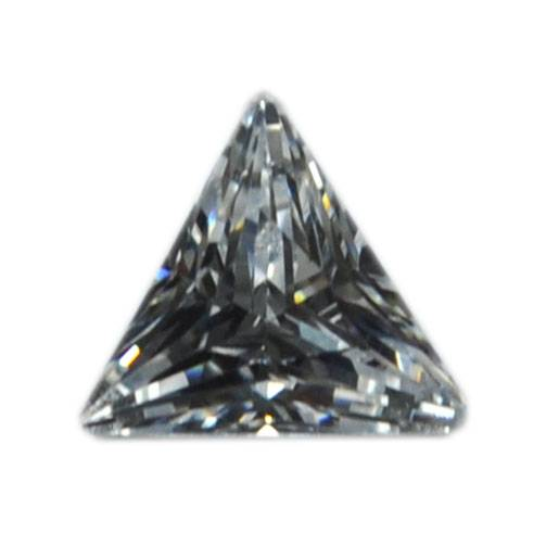 100pcs Natural India AAA Cubic Zirconia crystal Stone Carved Point Sacred triangle shinning
