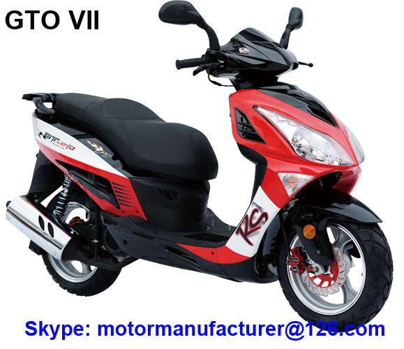 GTO VII Scooter JNEN Motor Popular Design 2016 Model Gasoline Scooter 50CC/150CC CDI/EFI EEC/EPA