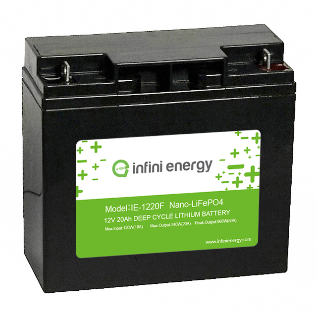 12v 20ah deep cycle lifepo4 solar light battery pack