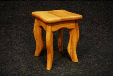 Solid Oak Stool Raimondo
