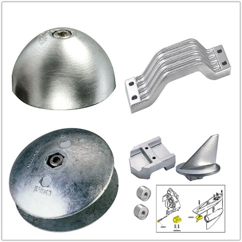 Zinc anode for marine