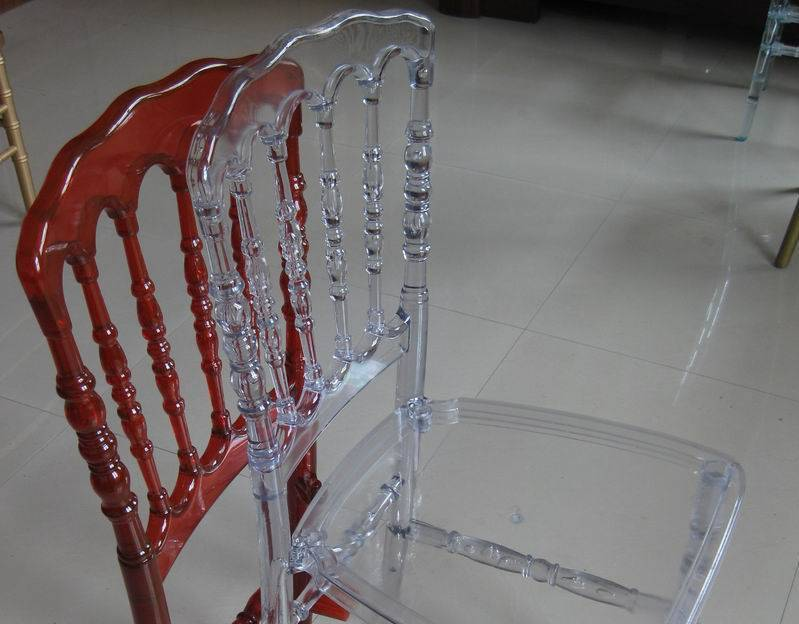 Resin Napoleon Chair in Clear
