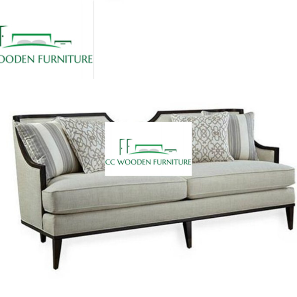 American solid wood sofa Simple contemporary sofa French solid wood sofa