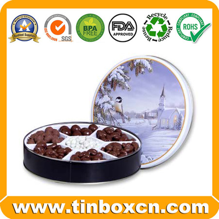 Round tin can for food packaging,tin boxes