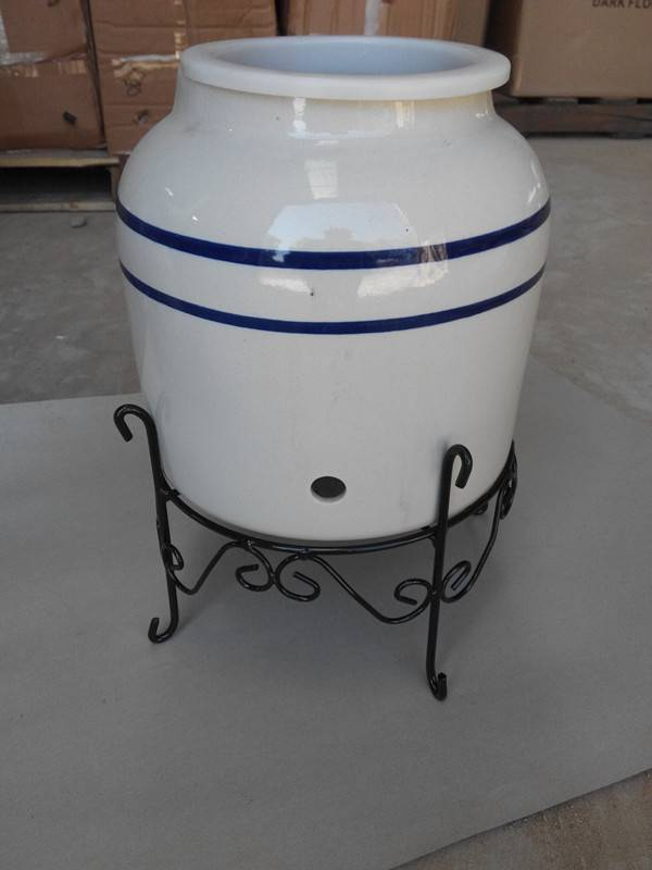 ceramic water dispenser with metal stand