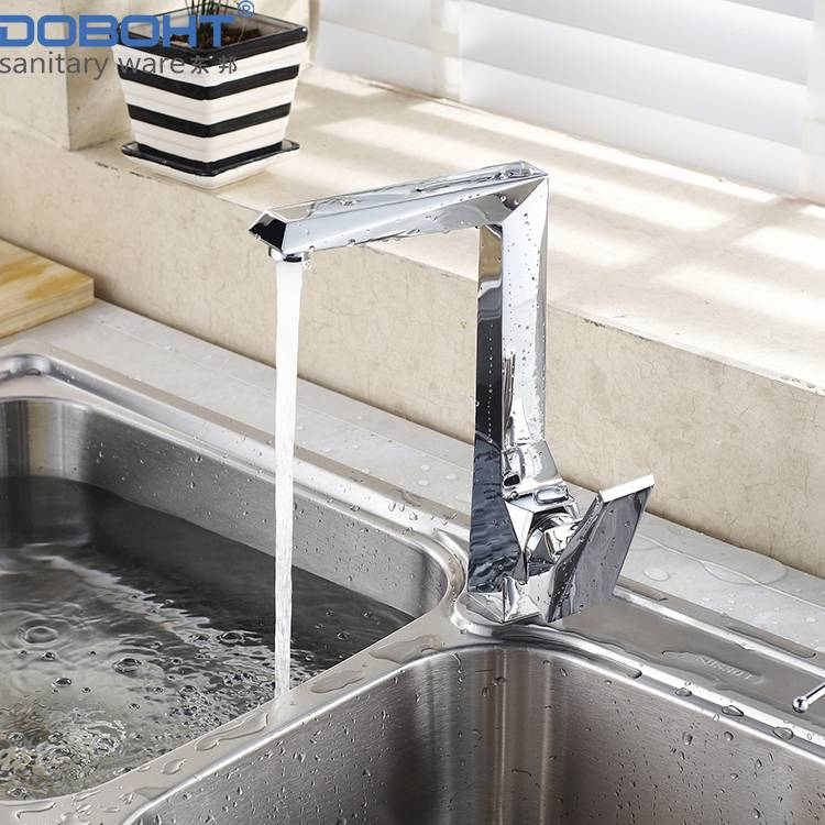 doboht sanitaryware brass single handle chrome kitchen faucet mixer