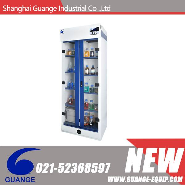 Ductless Filtering Chemical Storage Cabinet with LCD Screen ,Compartment and Double Doors SSC805LS2