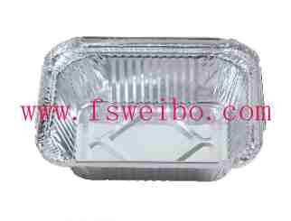 disposable aluminum foil container for food packing and storage