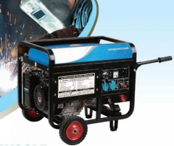 6.5KW Gasoline generator-welder with electric start+wheel and handles with high quality