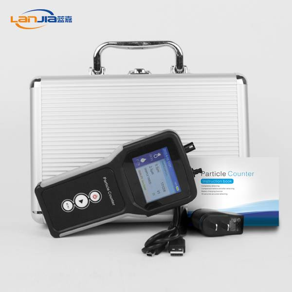 0.3 microns and 2.5 microns laser particle counter