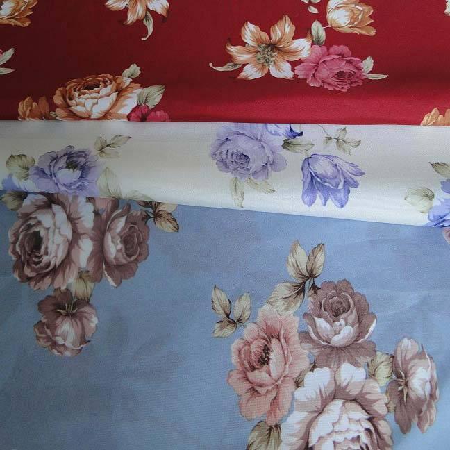 brushed printed mattress fabric