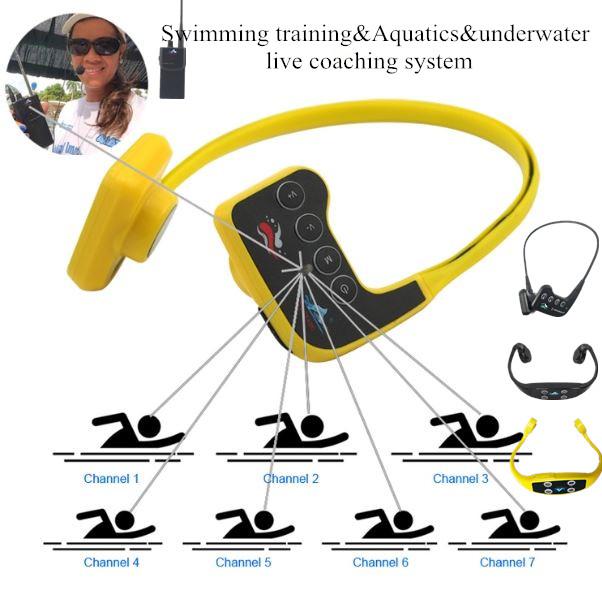 Swimmer coaching radio swimming headset headphone