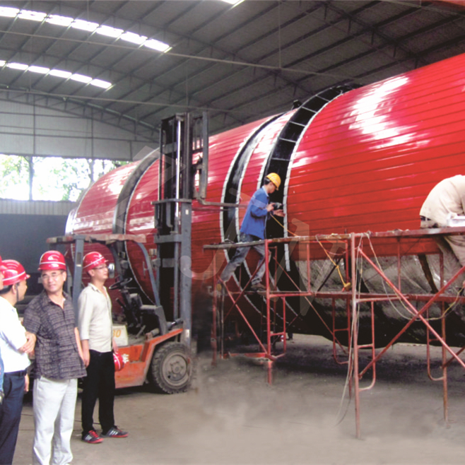 ZJN Three Cylinders rotary drum dryer for industrial sludge