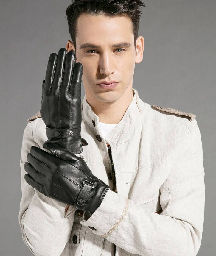 sheep skin leather gloves for man