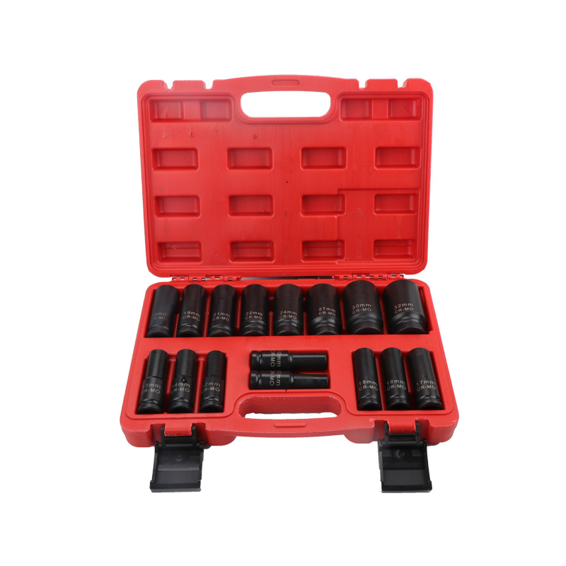 16PCS 1/2 Inch Drive Deep Impact Socket Set