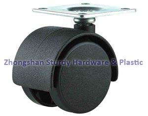 Furniture Casters Black Office Chair Casters Twin Wheel Nylon Series