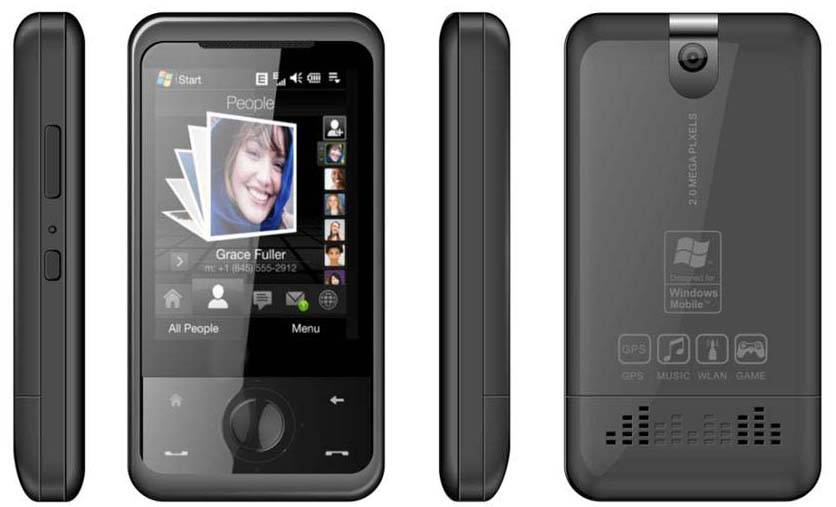 W1666-GSM QVGA Touch Screen Windows Mobile/WM 6.1 GPS PPC With Bluetooth/Java/WiFi/Office/MP3/MP4