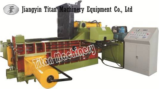 aluminum scrap baler baling press machine