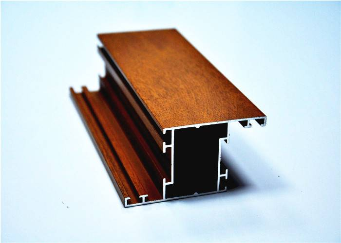 6000 series wood grain aluminium window profile by extrusions