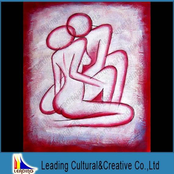 nude abstract body oil painting modern