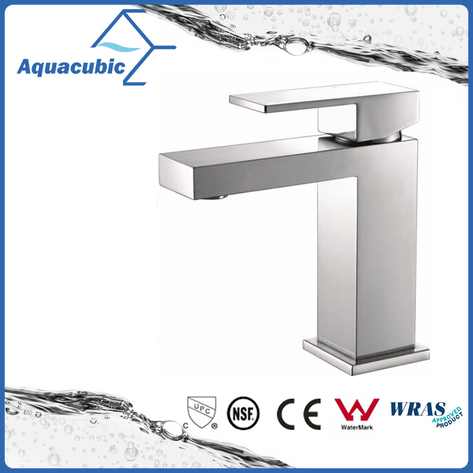 Square base solid brass body single handle basin tap (AF6028-6A)