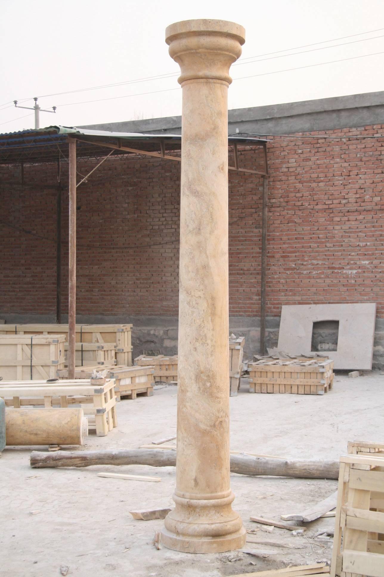 stone carved pillars