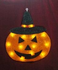 EVA&LED Halloween decorative lights,Pumpkin with black hat