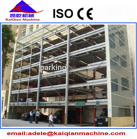 lift-sliding automatic parking system with steel structure