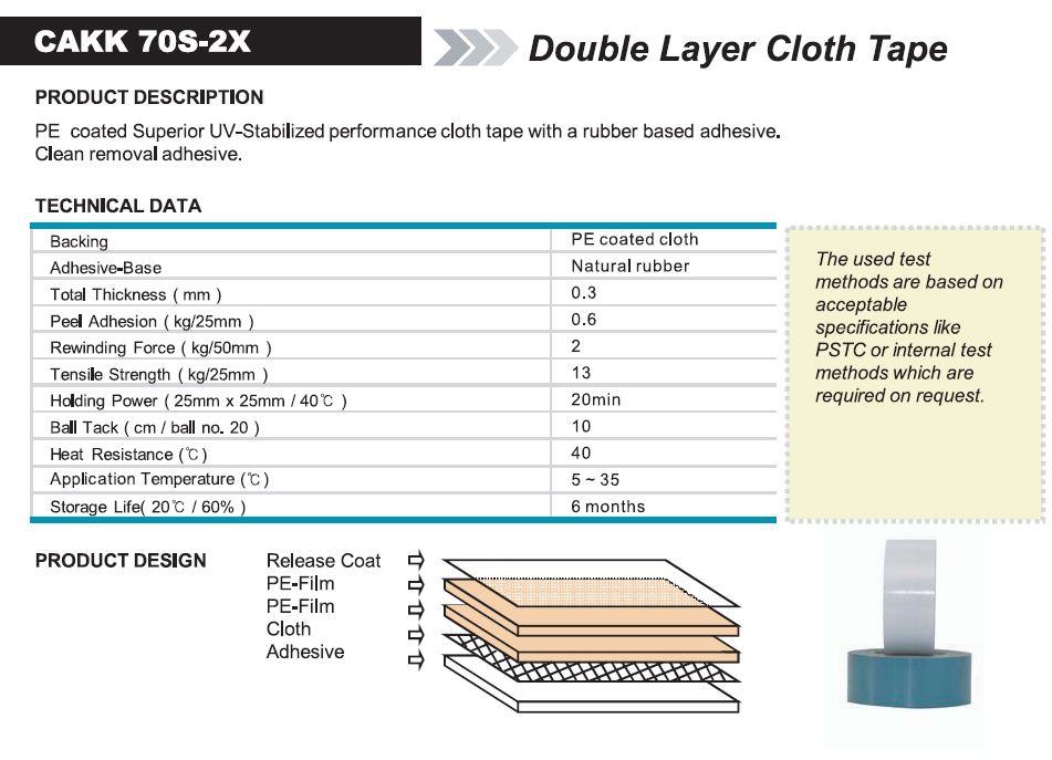 Double Layer Cloth Tape (CAKK 70S-2X)