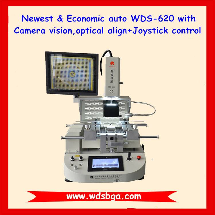 Most economic bga repair machine WDS-620 infrared wii bga rework station with MCGS touch screen