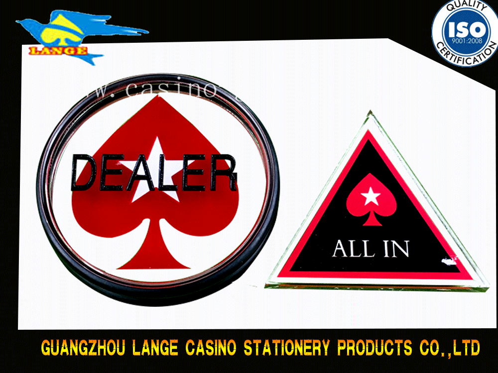Acrylic Dealer Button All In Button for Baccarat Casino Game