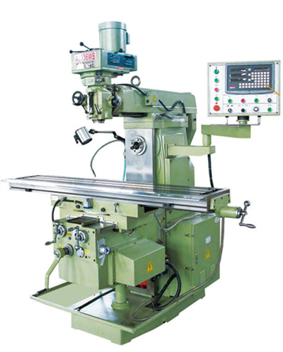 good quality turret milling machine with taiwan milling head