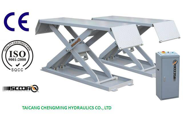 Hydraulic Middle Rise Underground Car Scissor Lift with Ce ISO