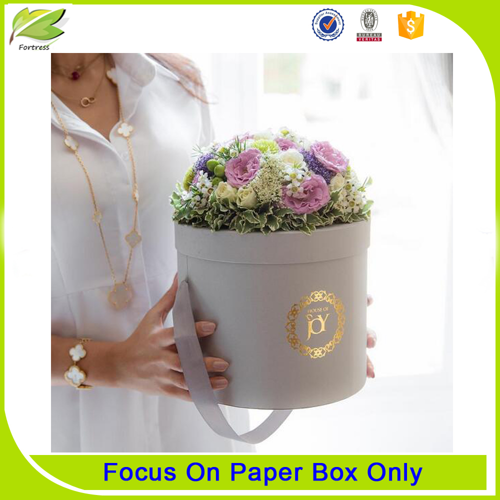Luxury printed flower paper gift boxes wholesale